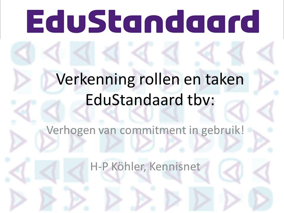Verkenning rollen en taken EduStandaard tbv: