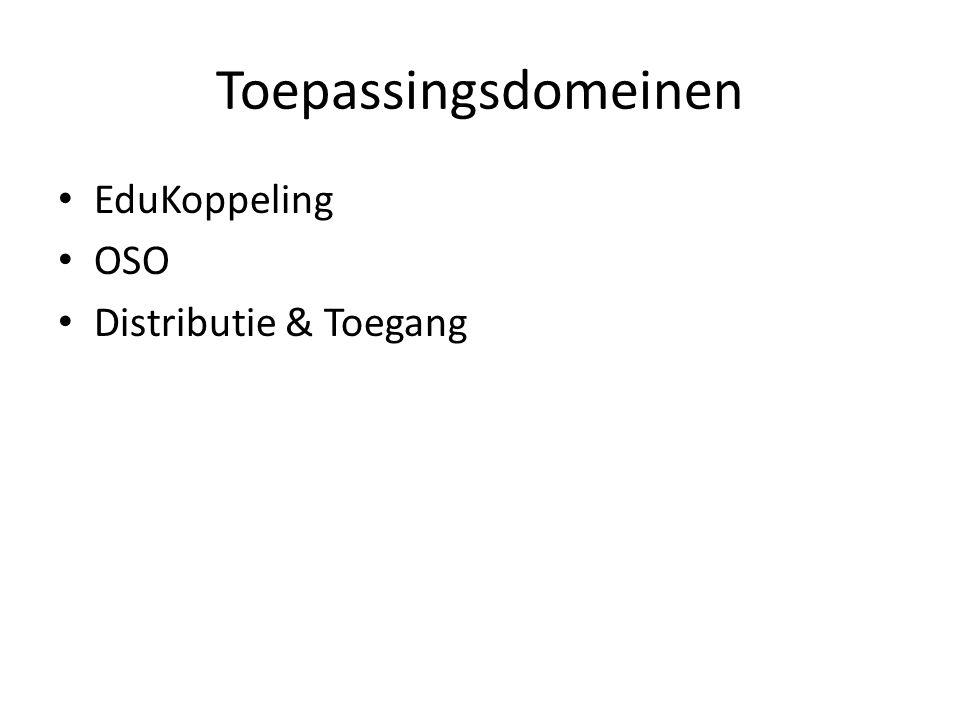 Toepassingsdomeinen EduKoppeling OSO Distributie & Toegang