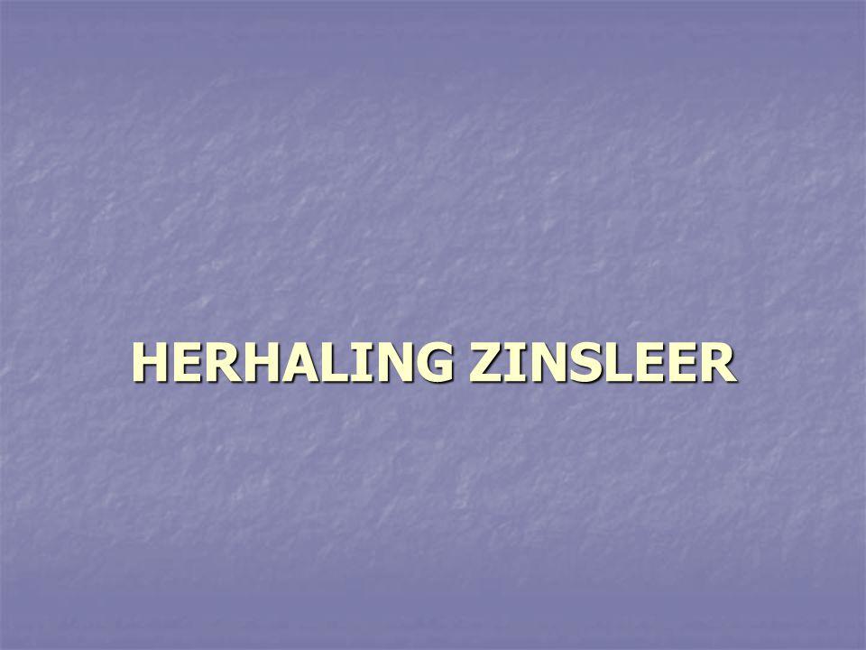 HERHALING ZINSLEER