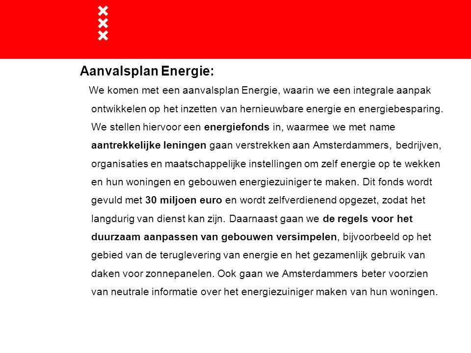 Aanvalsplan Energie: