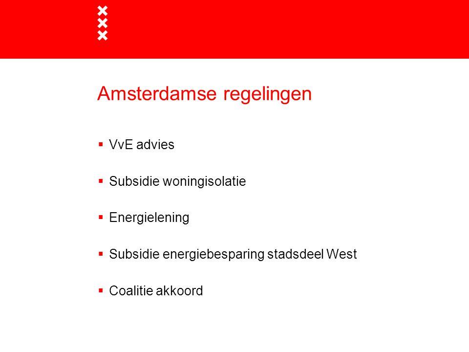 Amsterdamse regelingen