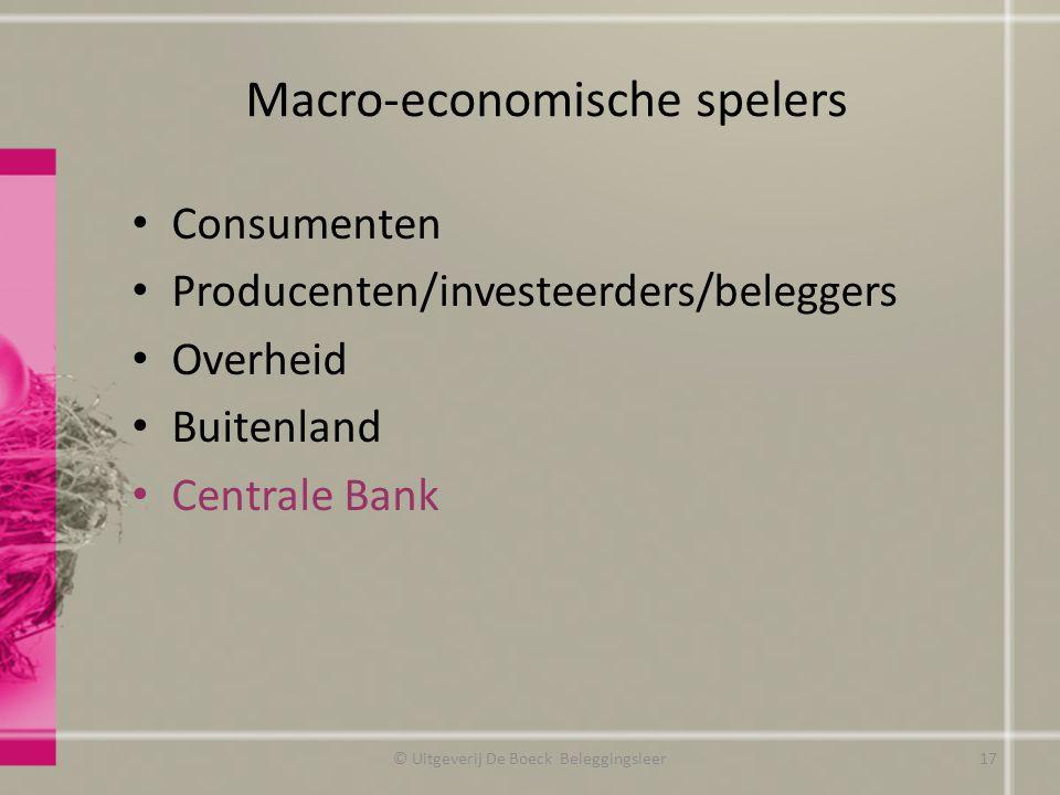 Macro-economische spelers
