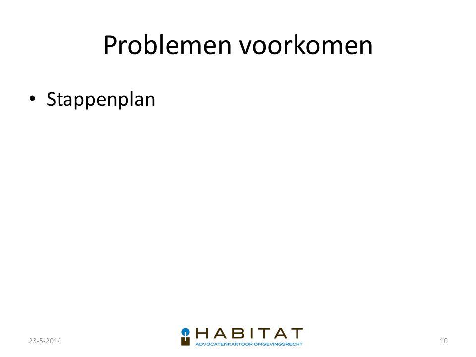 Problemen voorkomen Stappenplan 23-5-2014