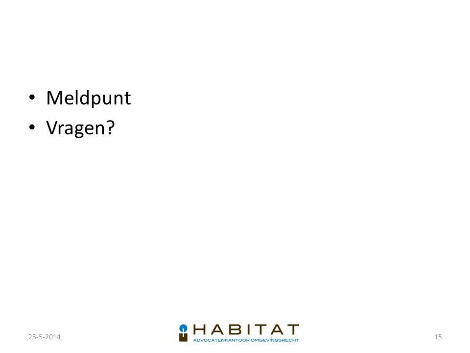 Meldpunt Vragen 23-5-2014