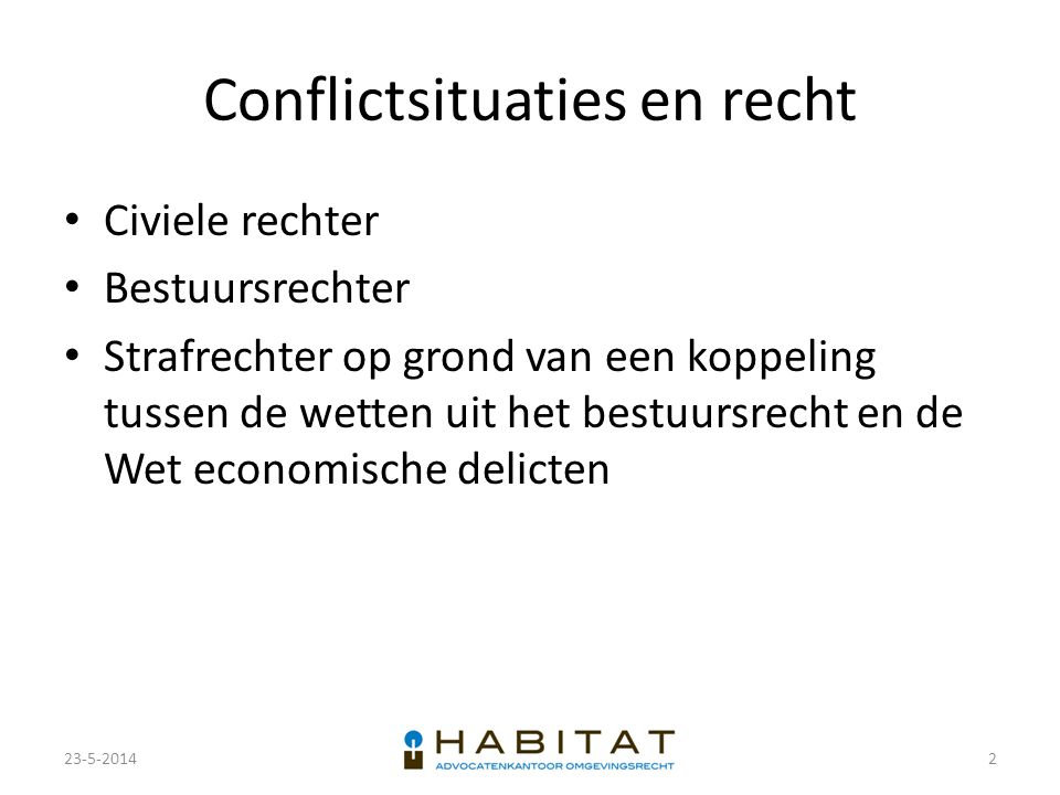Conflictsituaties en recht