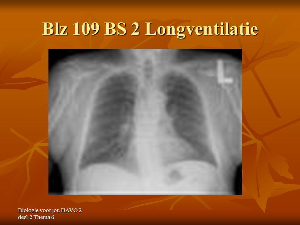 Blz 109 BS 2 Longventilatie Biologie voor jou HAVO 2 deel 2 Thema 6