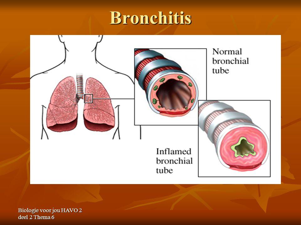Bronchitis Biologie voor jou HAVO 2 deel 2 Thema 6
