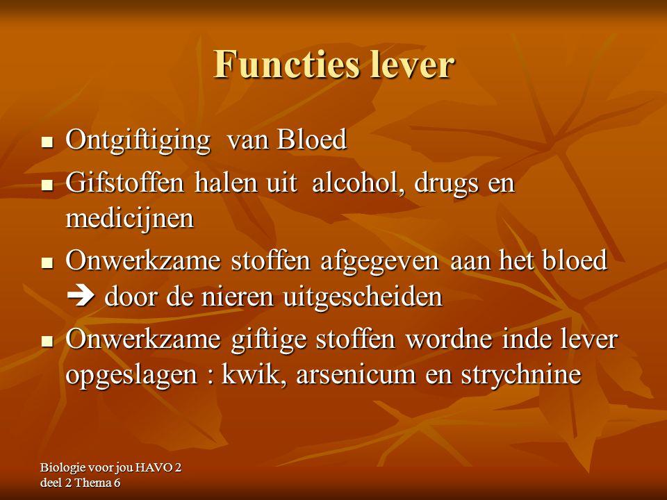 Functies lever Ontgiftiging van Bloed