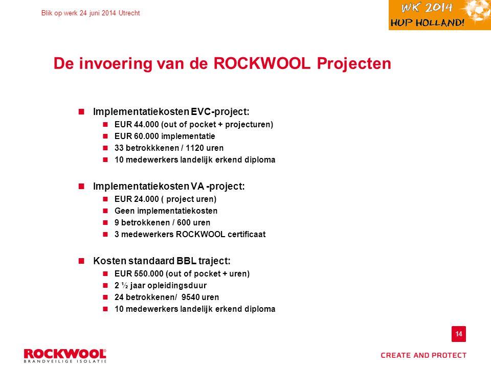 De invoering van de ROCKWOOL Projecten