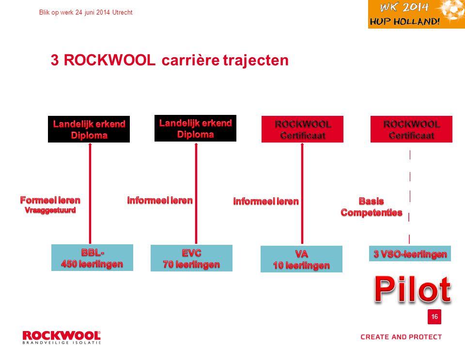 3 ROCKWOOL carrière trajecten