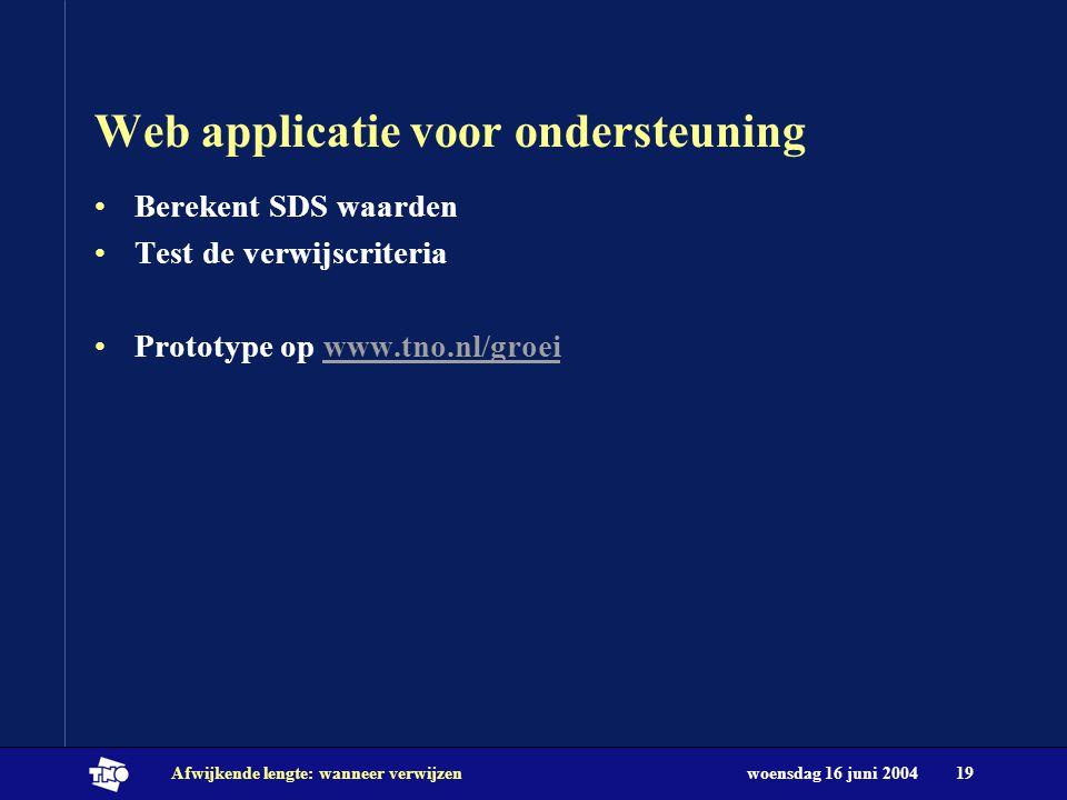 Web applicatie voor ondersteuning