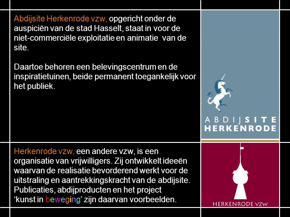 Abdijsite Herkenrode vzw, opgericht onder de auspiciën van de stad Hasselt, staat in voor de