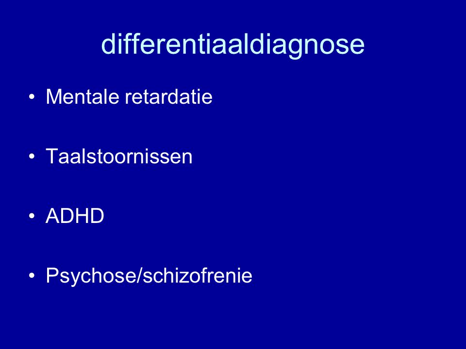 differentiaaldiagnose