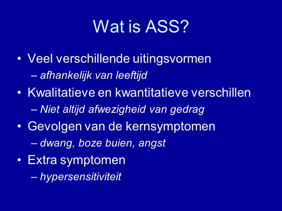 Wat is ASS Veel verschillende uitingsvormen