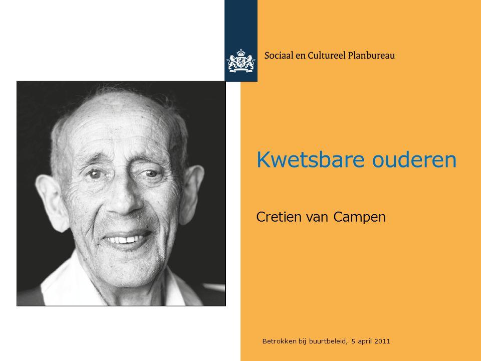 Kwetsbare ouderen Cretien van Campen