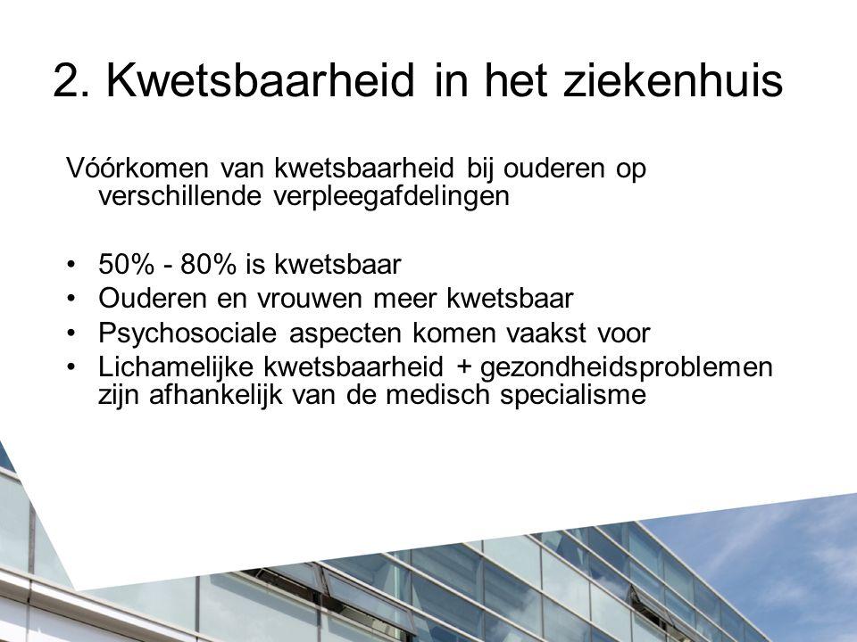 2. Kwetsbaarheid in het ziekenhuis