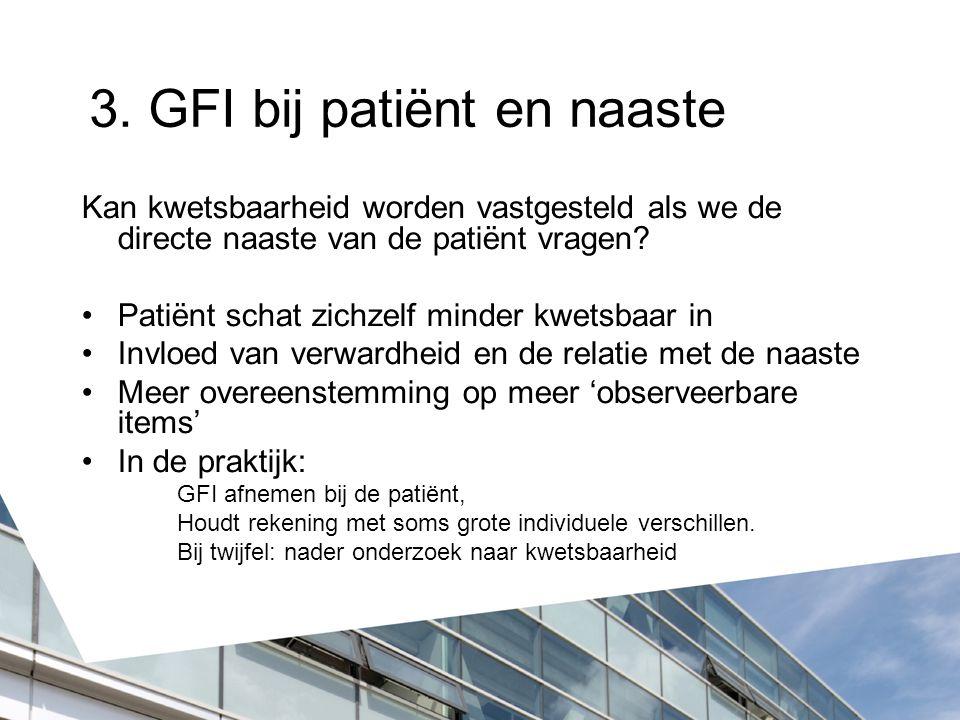 3. GFI bij patiënt en naaste