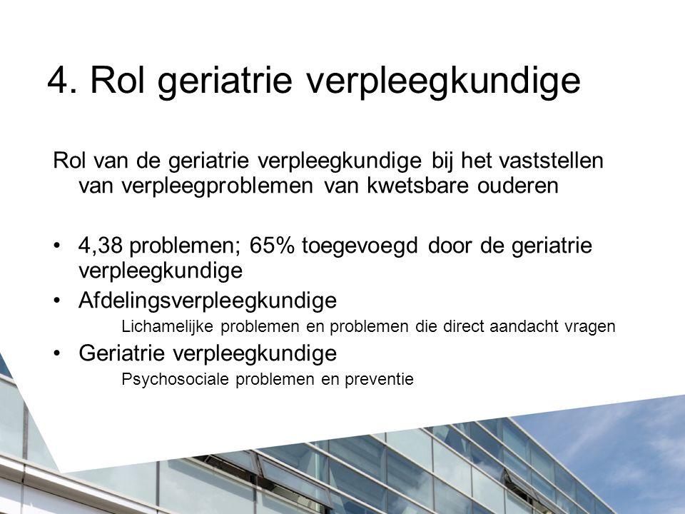 4. Rol geriatrie verpleegkundige
