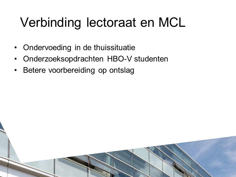 Verbinding lectoraat en MCL
