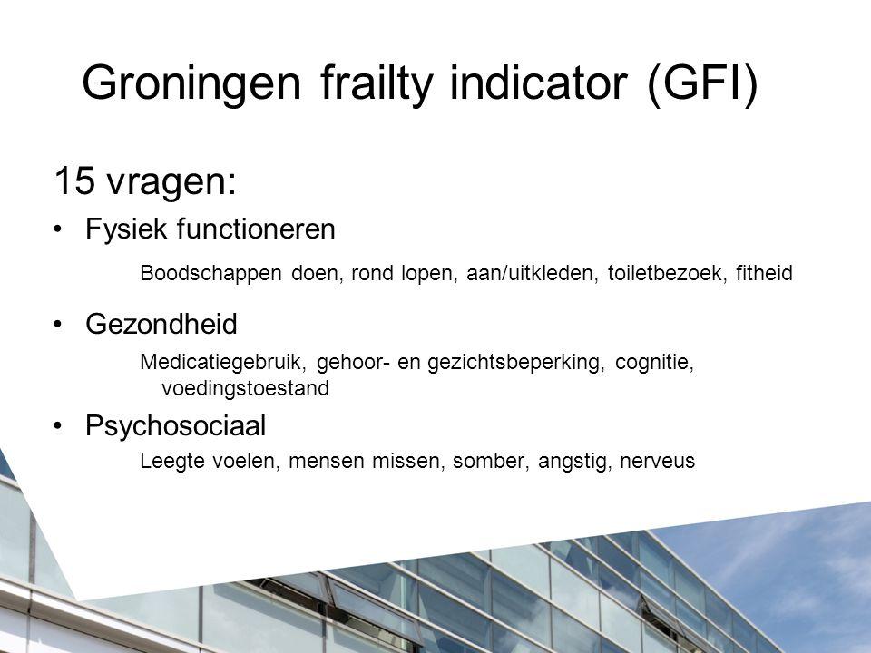 Groningen frailty indicator (GFI)
