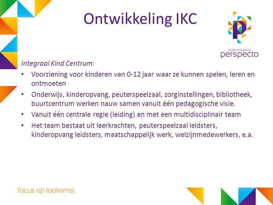 Ontwikkeling IKC Integraal Kind Centrum: