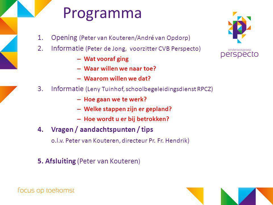 Programma Opening (Peter van Kouteren/André van Opdorp)