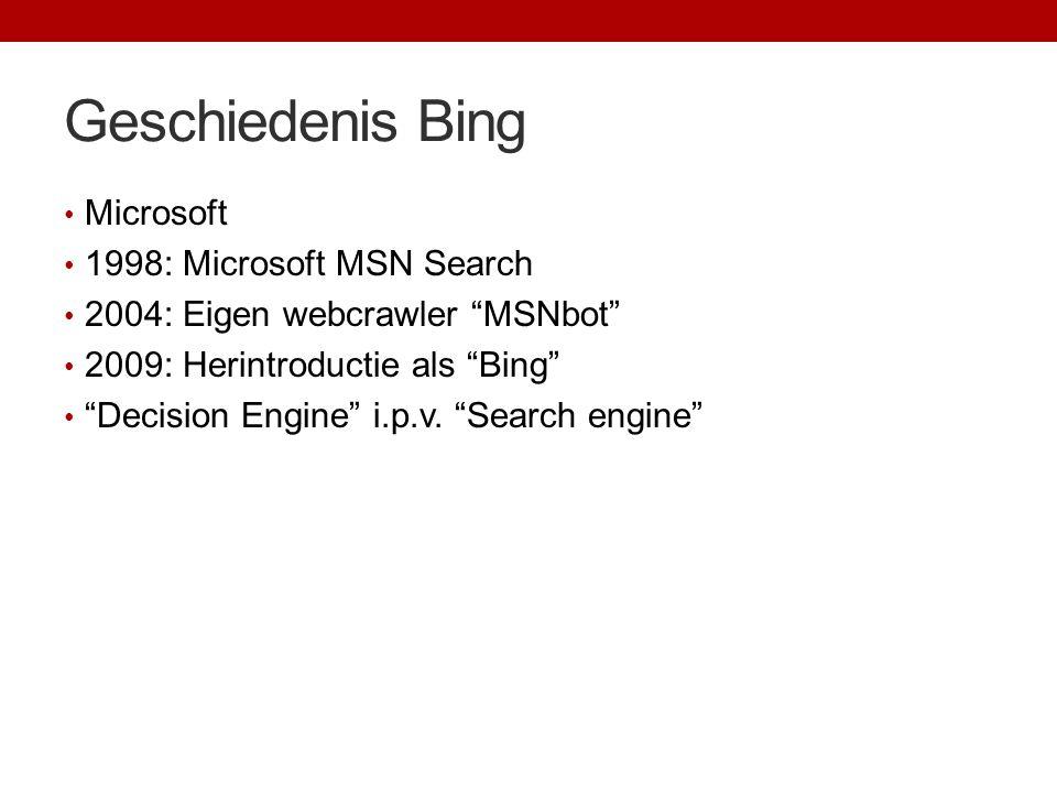 Geschiedenis Bing Microsoft 1998: Microsoft MSN Search