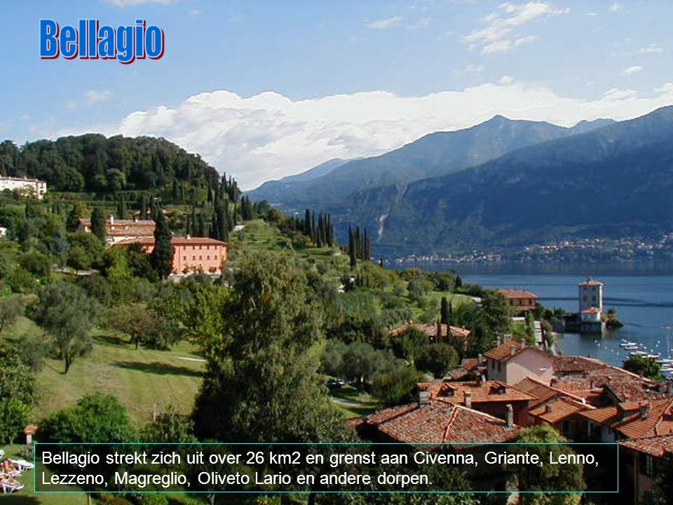 Bellagio Bellagio strekt zich uit over 26 km2 en grenst aan Civenna, Griante, Lenno, Lezzeno, Magreglio, Oliveto Lario en andere dorpen.