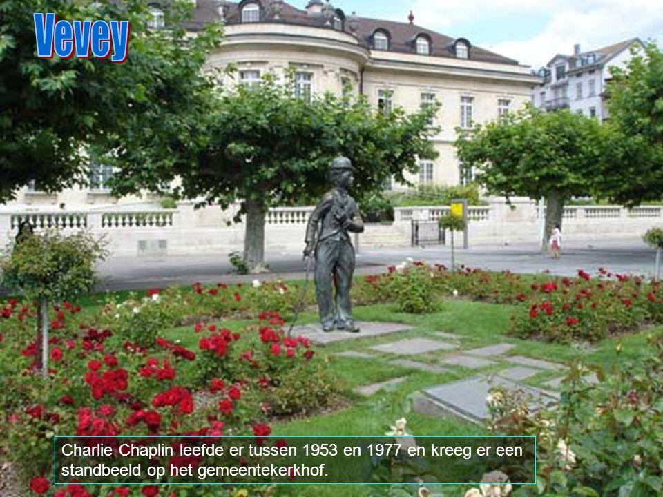 Vevey Charlie Chaplin leefde er tussen 1953 en 1977 en kreeg er een standbeeld op het gemeentekerkhof.