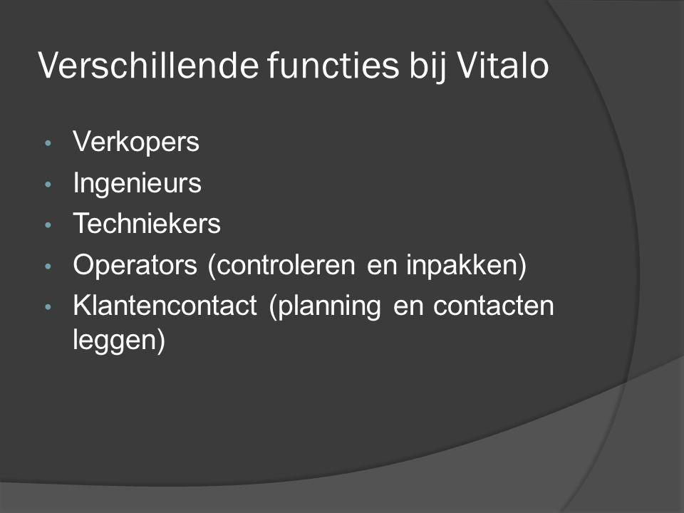 Verschillende functies bij Vitalo