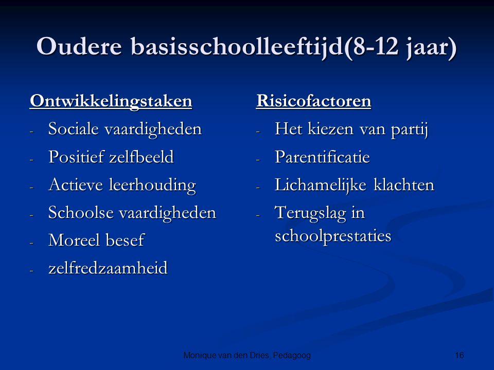 Oudere basisschoolleeftijd(8-12 jaar)