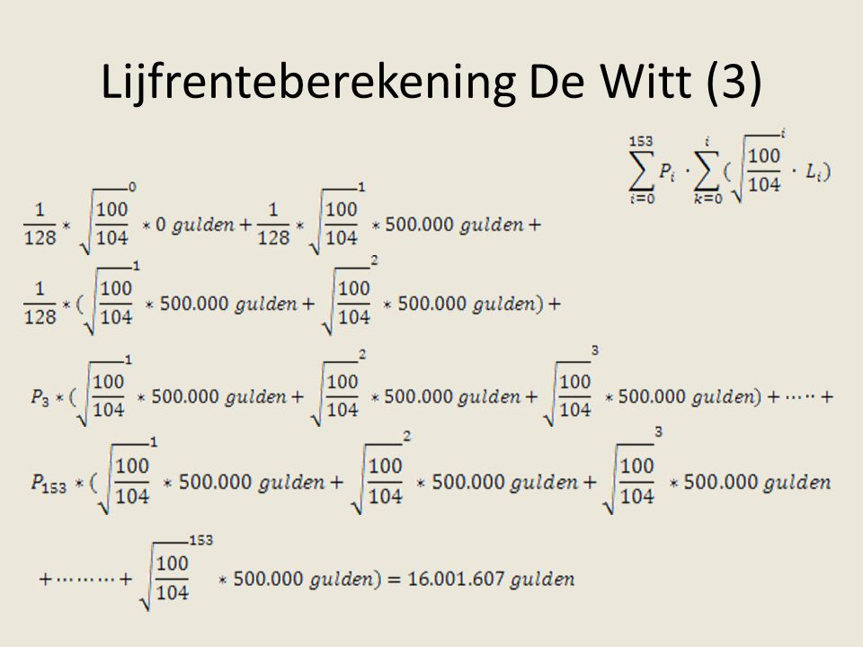 Lijfrenteberekening De Witt (3)