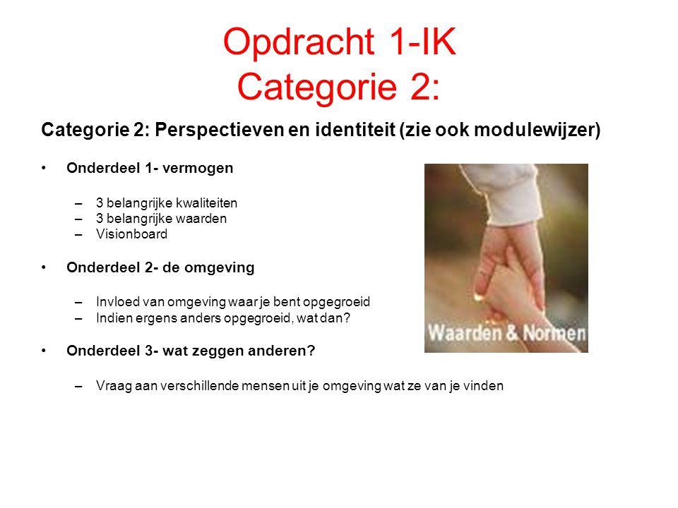 Opdracht 1-IK Categorie 2: