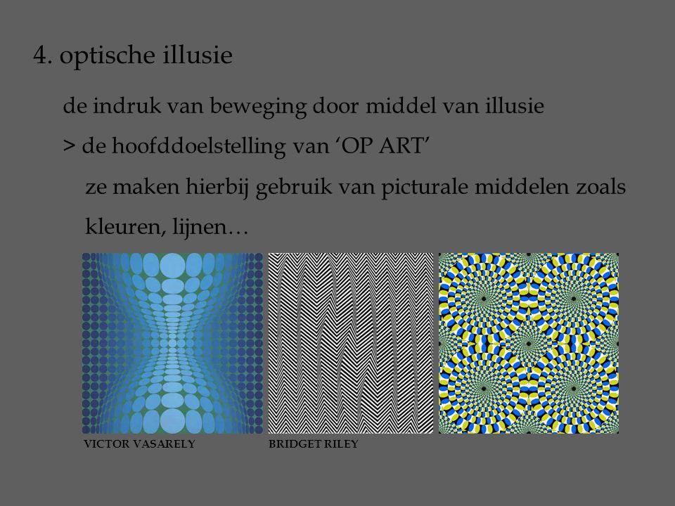 4. optische illusie de indruk van beweging door middel van illusie
