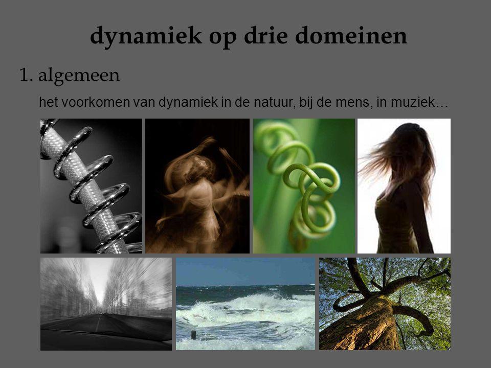dynamiek op drie domeinen