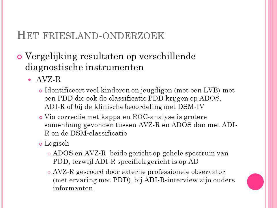 Het friesland-onderzoek