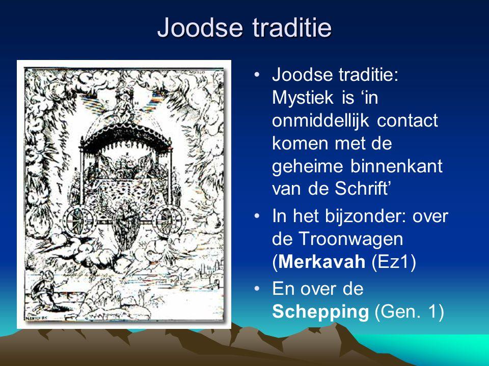 Joodse traditie Joodse traditie: Mystiek is 'in onmiddellijk contact komen met de geheime binnenkant van de Schrift'