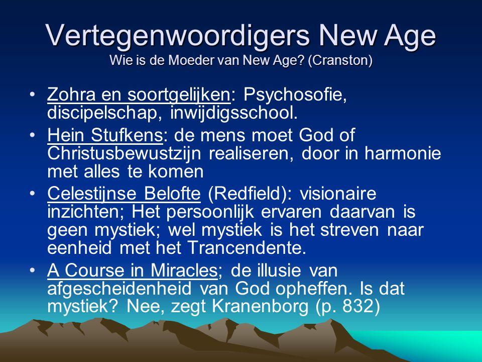 Vertegenwoordigers New Age Wie is de Moeder van New Age (Cranston)