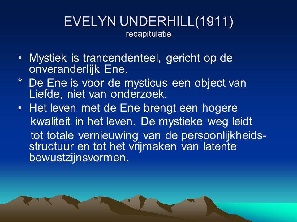 EVELYN UNDERHILL(1911) recapitulatie