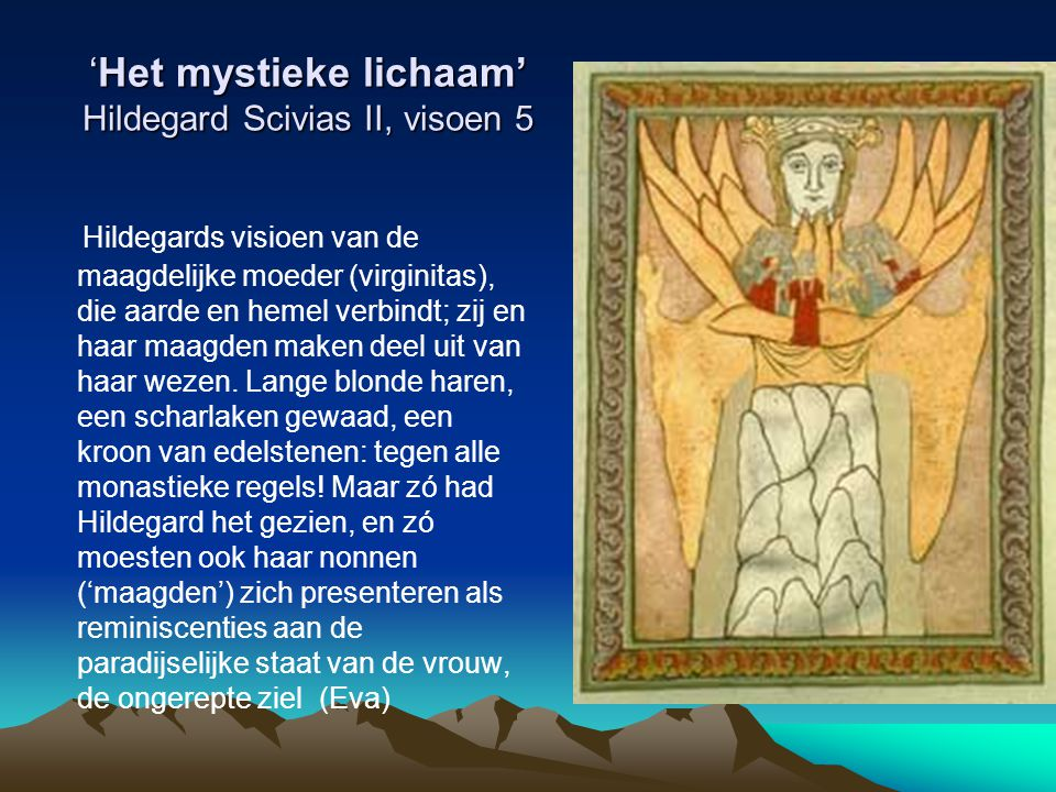 'Het mystieke lichaam' Hildegard Scivias II, visoen 5
