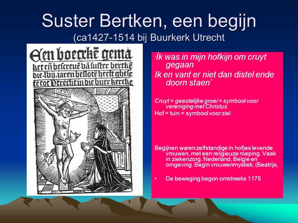 Suster Bertken, een begijn (ca1427-1514 bij Buurkerk Utrecht