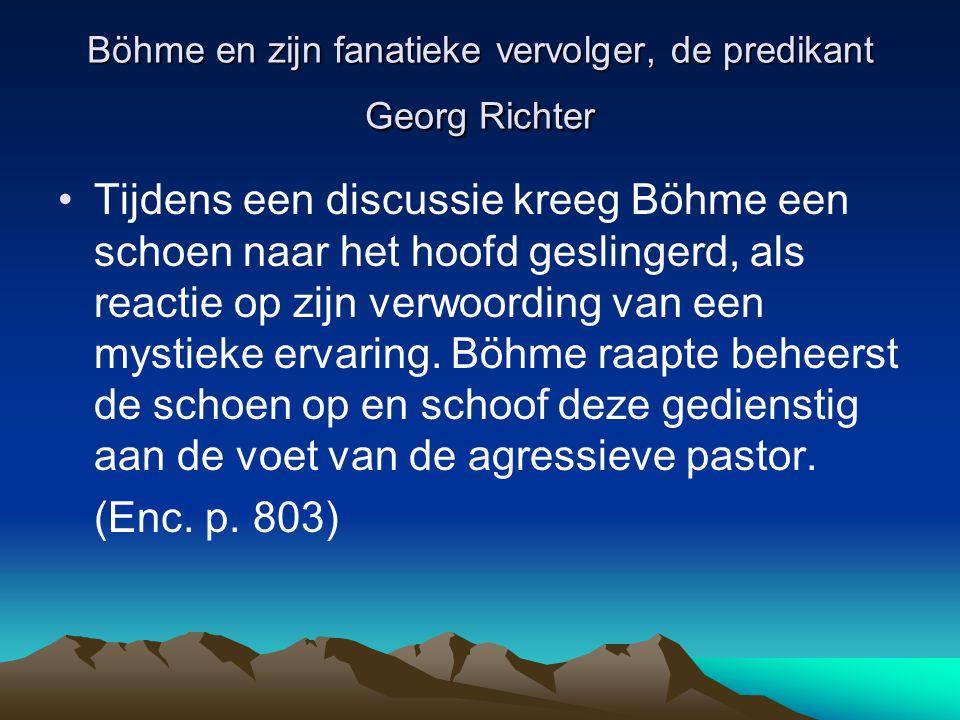 Böhme en zijn fanatieke vervolger, de predikant Georg Richter