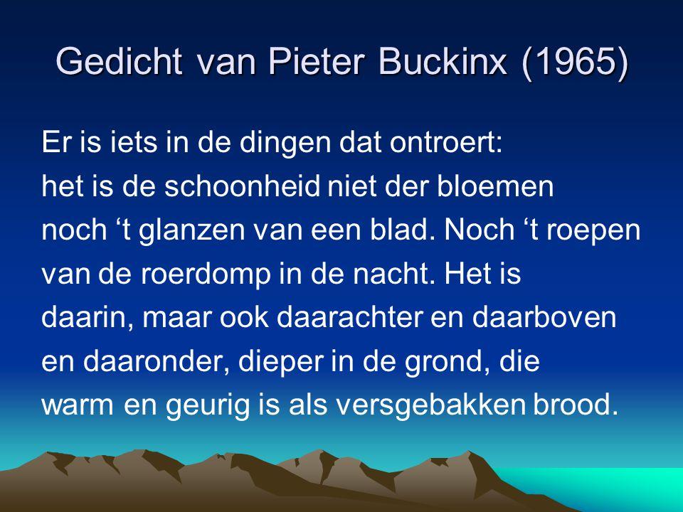 Gedicht van Pieter Buckinx (1965)