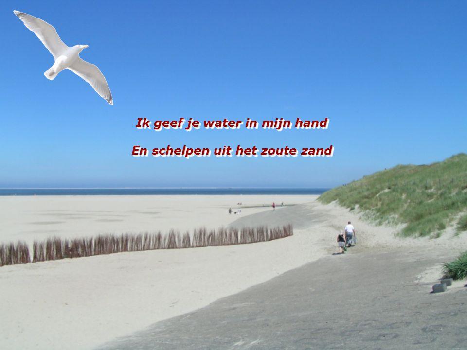 Ik geef je water in mijn hand En schelpen uit het zoute zand