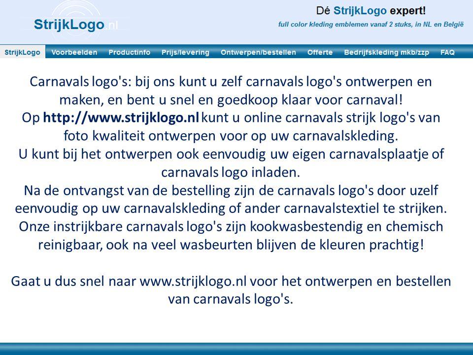 Carnavals logo s: bij ons kunt u zelf carnavals logo s ontwerpen en maken, en bent u snel en goedkoop klaar voor carnaval!