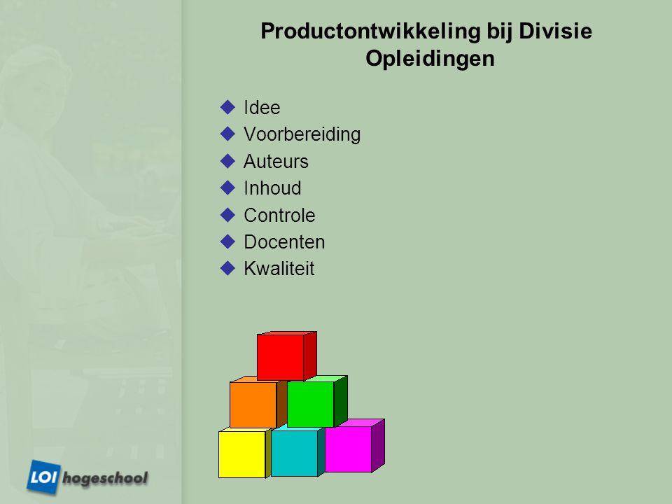 Productontwikkeling bij Divisie Opleidingen