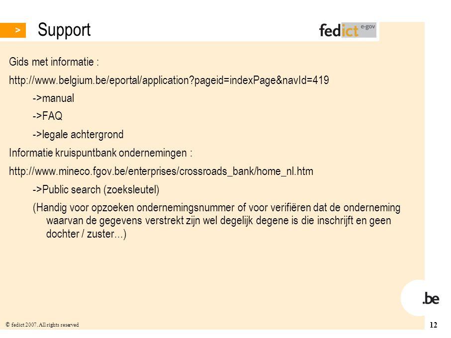 Support Gids met informatie :