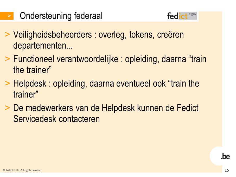 Ondersteuning federaal
