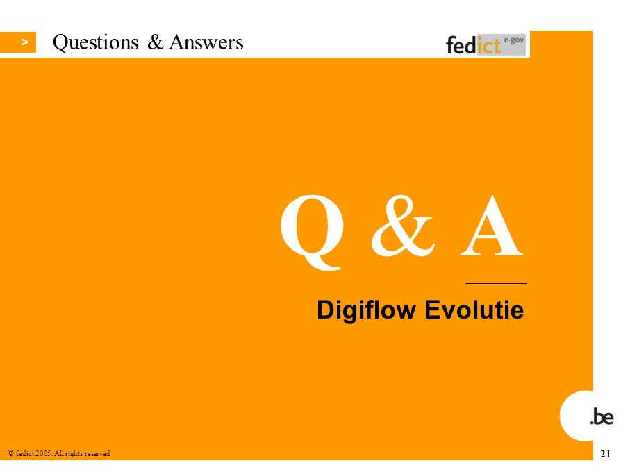 Questions & Answers Digiflow Evolutie