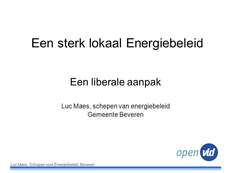 Een sterk lokaal Energiebeleid
